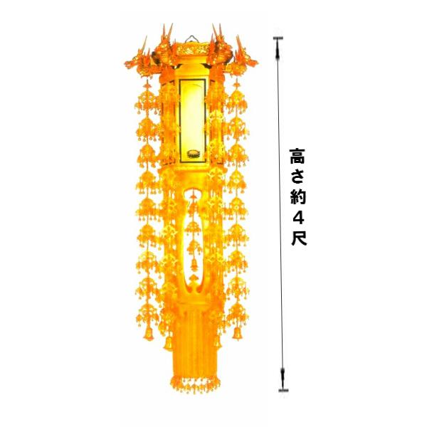 【寺院仏具】透かし 六角幢幡4尺〜各サイズ 一対 (受注生産品)