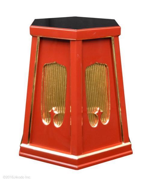 【特別販売品】朱塗り 灯篭台 1対(天平径約36cm×高約55cm) 長期在庫品 木製高級仏具通販 管理番号「5030」