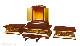 【寺院仏具】潤み塗りの厨子・厨子台・須弥壇、茶湯台のフルセットの6点 幅84センチ 木製高級寺院仏具通販(受注生産品)(商品番号11247u)