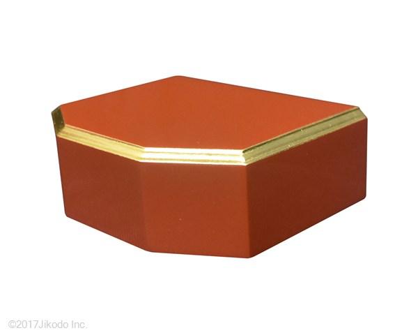 【寺院仏具】朱塗り 隅切り型仏像台 幅約30センチ 厨子台・仏像台にも サイズ調整可能です。 国産高級木製仏具通販 (受注生産品)(商品番号10123s)