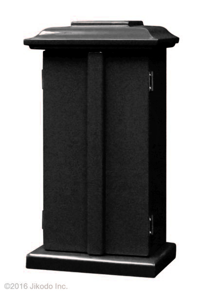 【祈りの空間】角厨子当社オリジナル11号 黒塗り 高さ33センチ 安心の国内自社工場製作品(受注生産品)(商品番号10143k)