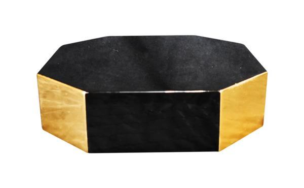 【受注生産品】幅27センチ 黒塗りの八角型仏像台 位牌台、宝塔台、多目的台としてお使いいただけます。(商品番号10183)