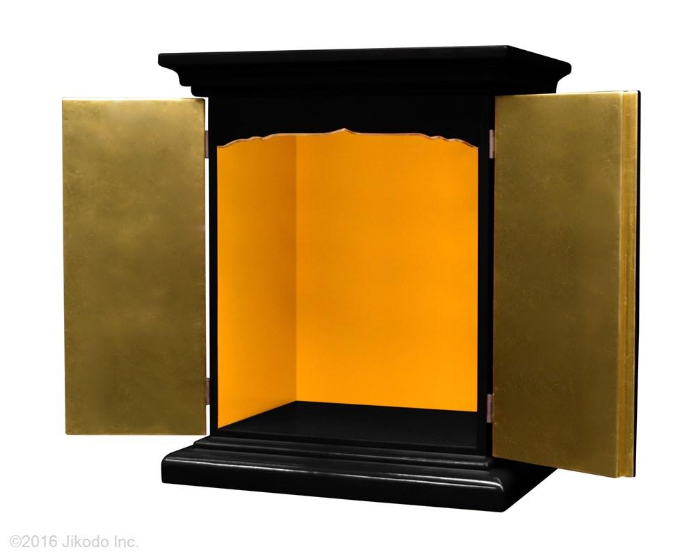 【祈りの空間】潤み塗り 高さ42センチの本格的小型仏壇 厨子型タイプ 国内自社工場製作品(受注生産品)(商品番号10211u)【高級木製仏壇・国内産仏壇・オーダーメイド】