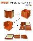 【寺院仏具】黒塗り 壇幅90センチ 収納できる折り畳み椅子型護摩壇・大壇 ケイ台つき 密教法具 祈祷・供養・護摩焚き 国内自社工場制作の高級木製仏具 練習用に最適です。(受注生産品)(商品番号11040k)