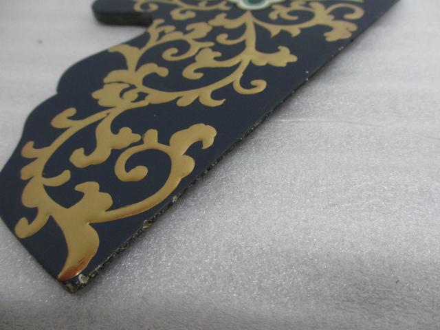 【特別販売品】木製 彩色幕板 厨子の火頭窓や仏椅子の幕板などに(仏具の部品)(縦約18.7cm×横約40cm×厚約8mm) 在庫品特価 管理番号「5011」