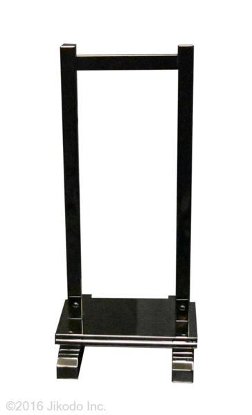 【寺院仏具】黒塗り 慈光型の塔婆立1台 3本立て  安心の国産 自社工場にて製作 (受注生産品)(商品番号10096k)