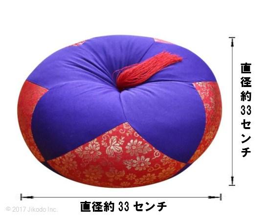 【寺院仏具】木魚およびケイス用 ふとん 1.1尺 (受注生産品)