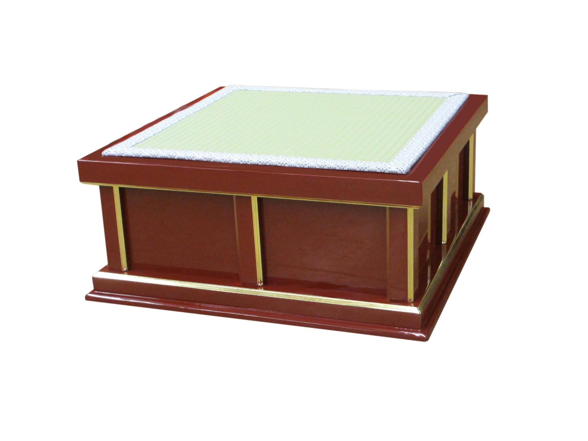 【寺院仏具】幅60センチ 朱塗りの新型礼盤 (受注生産品)(商品番号11007s)