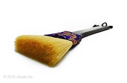 【寺院仏具】 お掃除用高級刷毛 お仏壇・仏具用 紫金襴色1本 (在庫品特価)