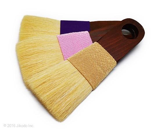 【寺院仏具】 お掃除用高級刷毛 お仏壇・仏具用 紫色1本 (在庫品特価)