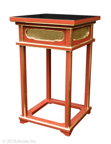 【寺院仏具】朱塗り 角型中央香台 幅45センチ 安心の国産寺院仏具 (受注生産品)(商品番号10048s)