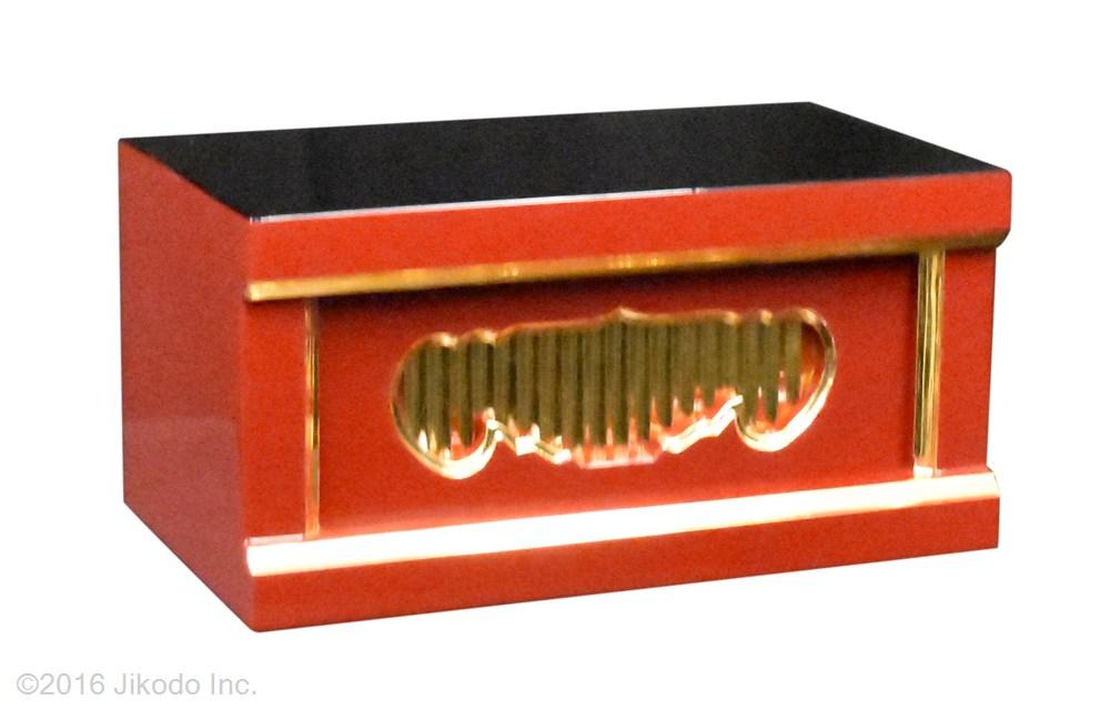 【寺院仏具】朱塗り 一間仏像台 幅30センチ 安心の国産品 サイズ調整可能です 自社工場にて製作 木製高級寺院仏具通販(受注生産品)(商品番号11108s)
