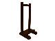 【寺院仏具】黒塗り 1〜2本立用 慈光型の塔婆立1台 国内自社工場制作 安心の国産寺院仏具(受注生産品)(商品番号10095k)