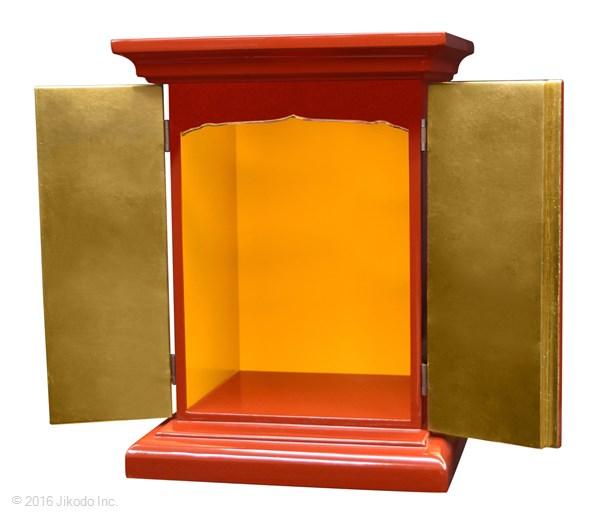 【祈りの空間】潤み塗り 高さ36センチの本格的小型仏壇 厨子型タイプ 国内自社工場製作品(受注生産品)(商品番号11174u)【高級木製仏壇・国内産仏壇・オーダーメイド】