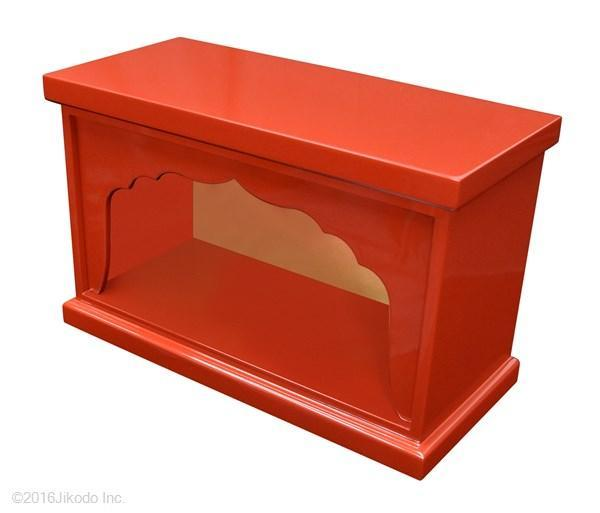 【特別販売展示品】箱型厨子 大黒様恵比寿様用厨子 (内寸幅約53cm×高さ約27cm×奥行約28cm)長期在庫品の為特価 管理番号「5091」