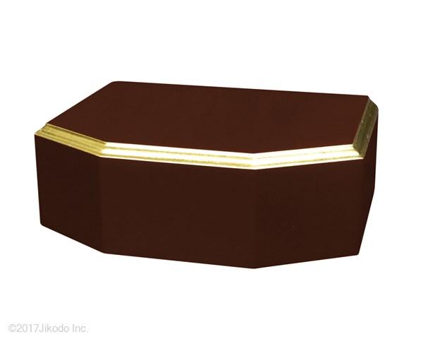 【寺院仏具】黒塗り 隅切り型仏像台 幅約30センチ 厨子台・仏像台にも サイズ調整可能です。 国産高級木製仏具通販 (受注生産品)(商品番号10123k)