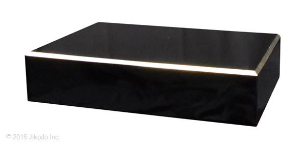 【受注生産品】黒塗り 角厨子8号と幅30センチの面金仏像台 2点セット 木製仏具 国内自社工場制作品(商品番号11233k)
