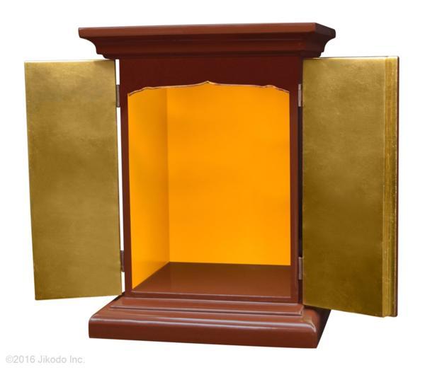 【祈りの空間】黒塗り 高さ36センチの本格的小型仏壇 厨子型タイプ 国内自社工場製作品(受注生産品)(商品番号11174k)【高級木製仏壇・国内産仏壇・オーダーメイド】