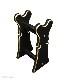 【寺院仏具】黒塗り 椅子式用の背高倍置き 幅約27センチ 安定感の良い倍置き台です  国内自社工場で製作 国産高級木製品 (受注生産品)(商品番号10108k)