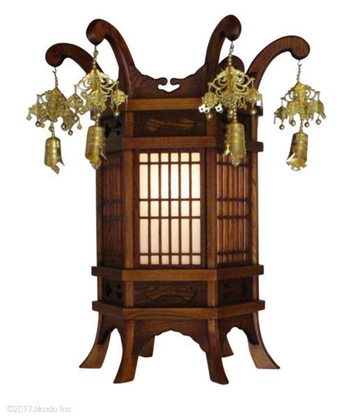 【国産仏具】欅製 吊り灯篭 高さ75センチ 1対 安心の国産仏具 木製高級仏具(受注生産品)
