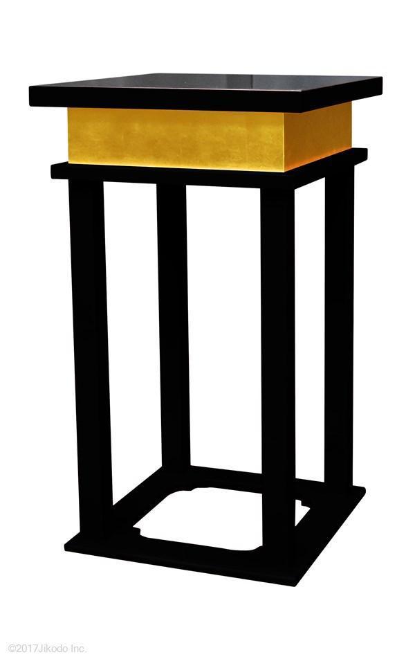 【寺院仏具】 黒塗り 慈光型の中央香台(焼香机、供物台にも)安心の国産品 自社工場にて製作(受注生産品)(商品番号10083k)