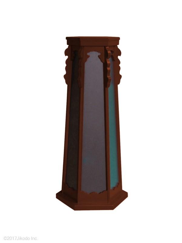 【受注生産品】朱塗り仕上げ 常夜灯台1対 高さ約90センチ 安心の国産仏具 木製高級仏具(商品番号10184s)