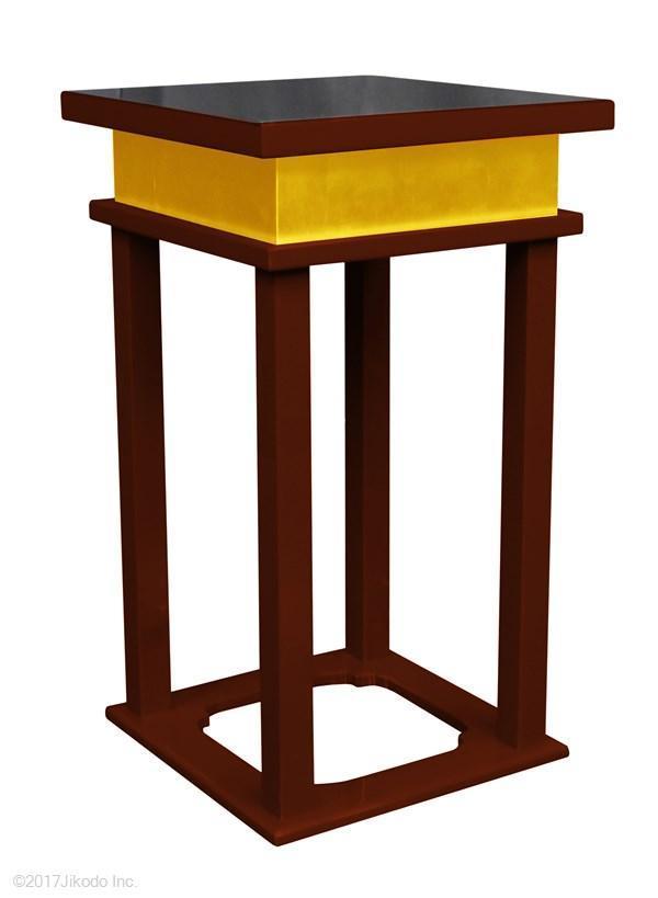 【寺院仏具】 潤み塗り 慈光型の中央香台(焼香机、供物台にも)安心の国産品 自社工場にて製作(受注生産品)(商品番号10083u)