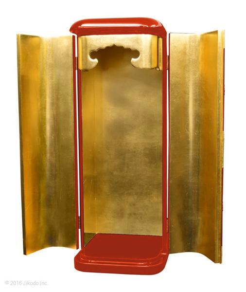 【寺院仏具】黒塗り 丸厨子 金具付き  高さ70センチ  安心の国内自社工場製作品 (受注生産品)(商品番号10161k)