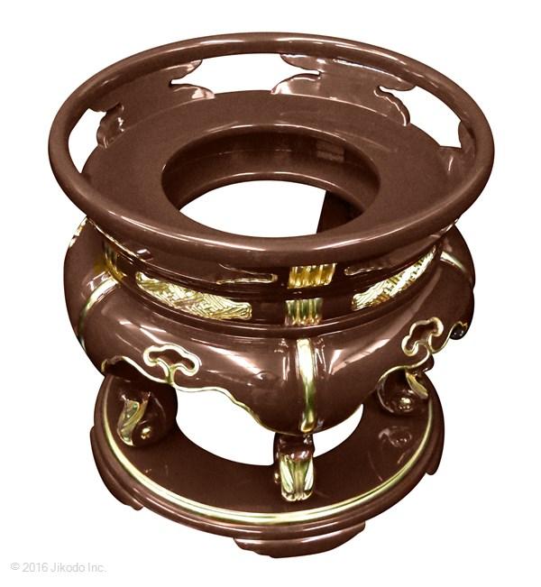 【寺院仏具】内径約27センチ 潤み塗りの丸金台・丸型ケイス台  (受注生産品)