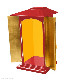 【寺院仏具】黒塗り 金具付 新型角厨子 高さ75センチ 安心の国産品 サイズ調整可能です 自社工場にて製作 木製高級寺院仏具通販(受注生産品)(商品番号11189k)