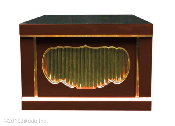 【寺院仏具】黒塗り 一間仏像台 幅30cm×20cm×60cm 安心の国産品 サイズ調整可能です 自社工場にて製作 木製高級寺院仏具通販(受注生産品)(商品番号11124k)