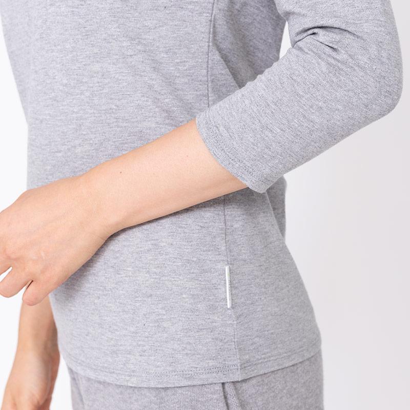 リカバリー ボートネックTシャツ(7分袖)レディース