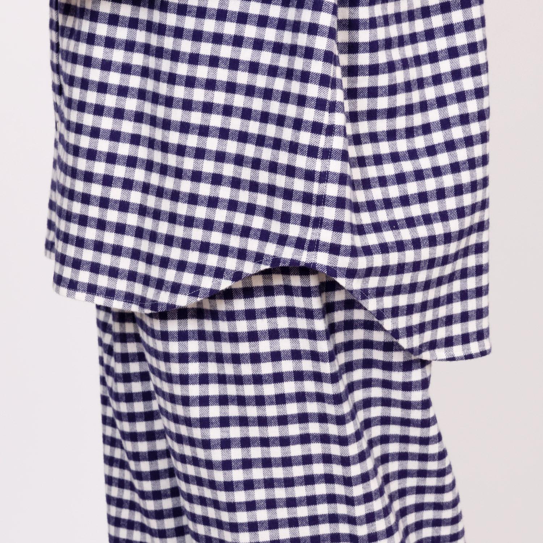 綾織ギンガムチェックパジャマ メンズ