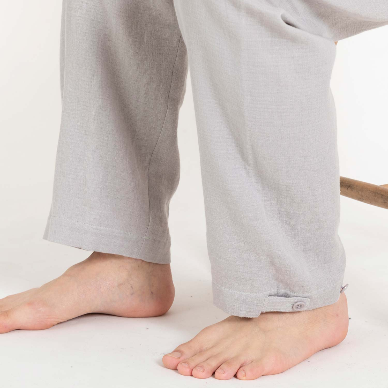 綿麻ワッフルガーゼパジャマ メンズ