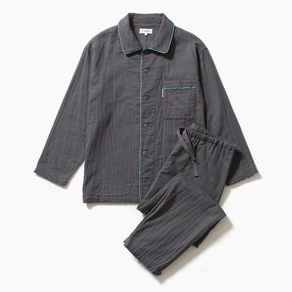 しなやか3重ガーゼパジャマ メンズ(4009)