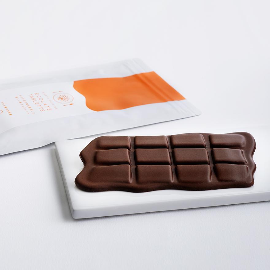 【予約販売】ECOLATE TABLETTE - カカオ豆の殻から生まれた新しい板チョコレート -