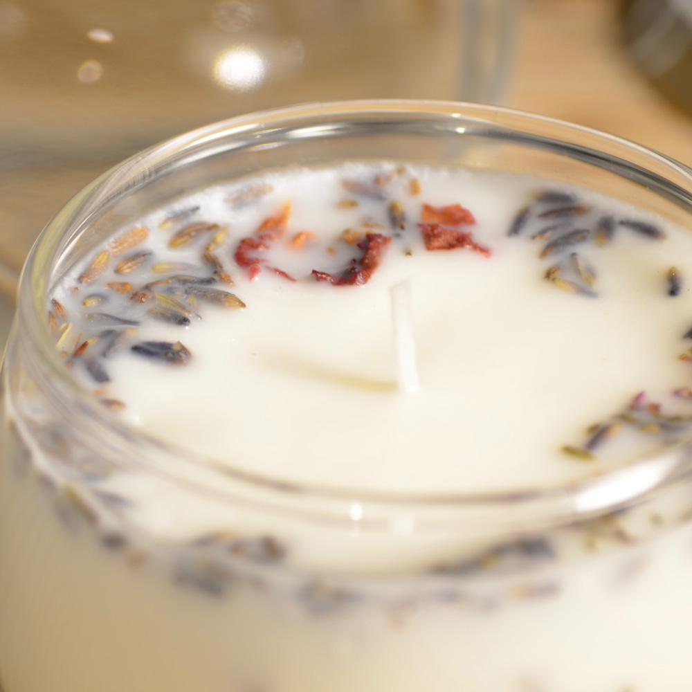 【手作りキット】 「真正ラベンダーの精油」 手作りアロマ大豆キャンドルキット