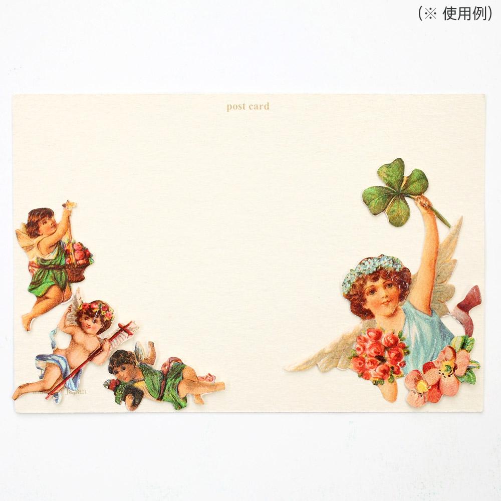 スクラップシート(ハートモチーフと天使)