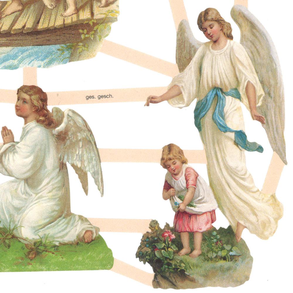 スクラップシート(子どもたちと天使)