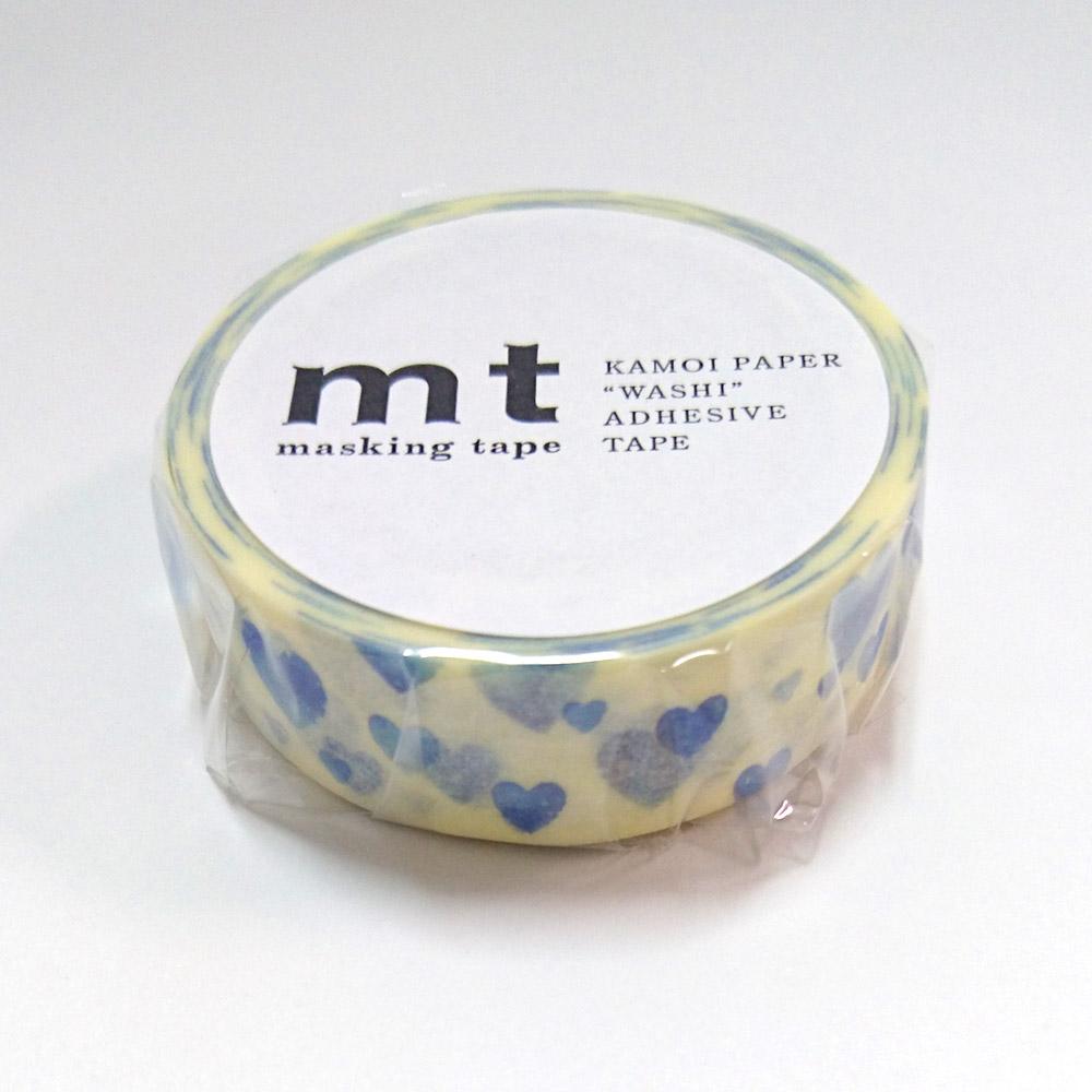 mt マスキングテープ/ハート・スタンプブルー