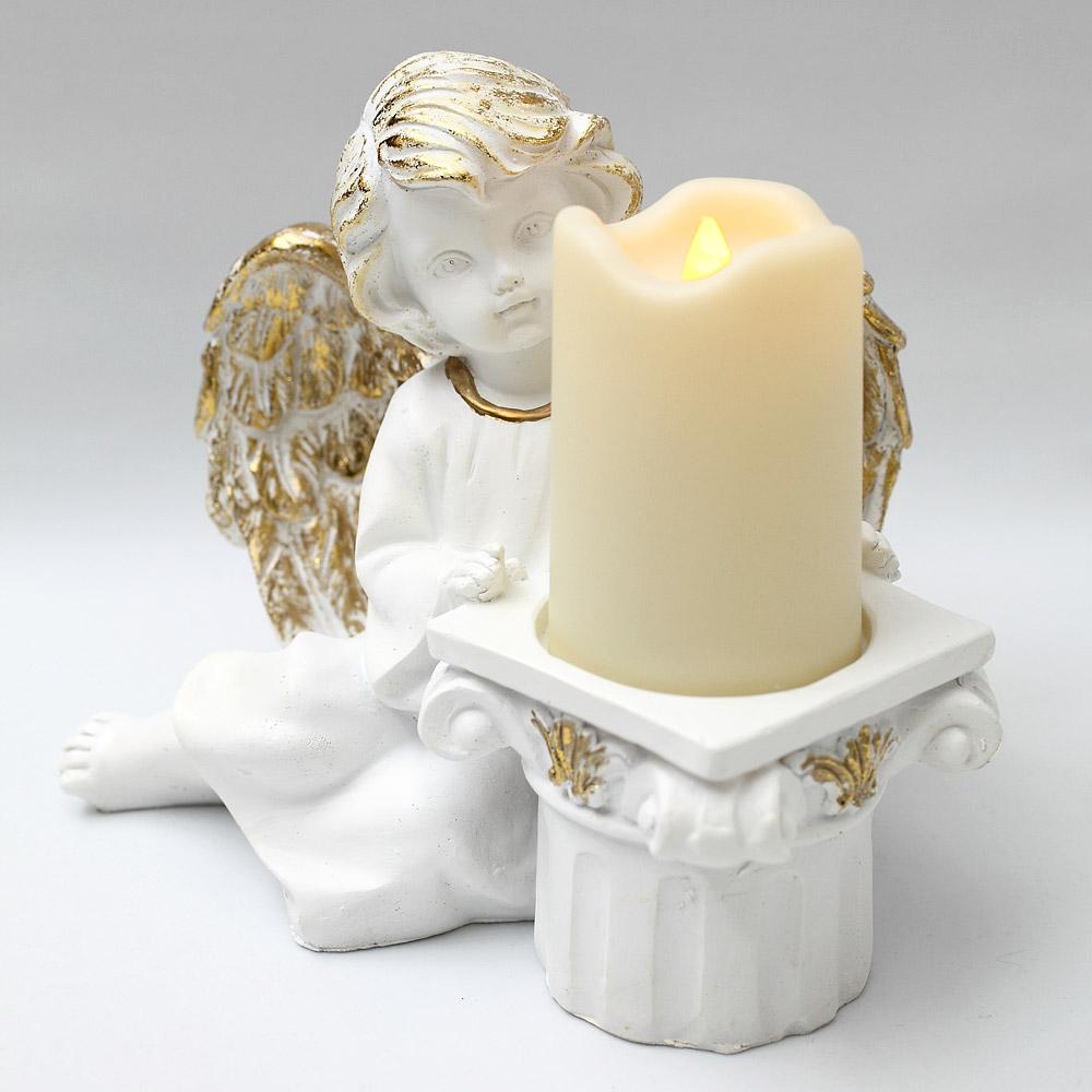 LEDキャンドルと天使