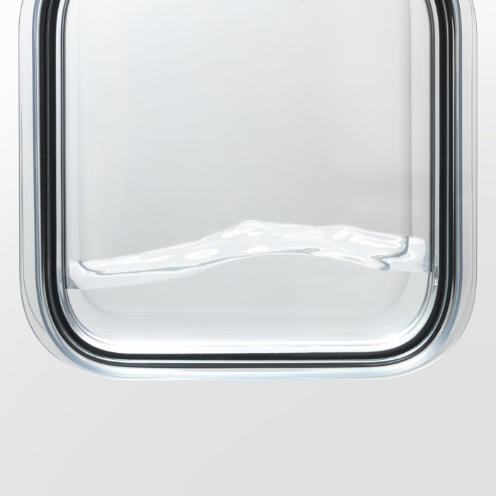 ライクイット 調理ができる保存容器 L(2個組) クリア like-it FC-032