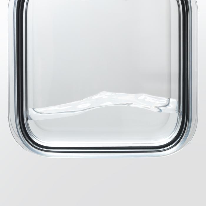 ライクイット 調理ができる保存容器(M:3個組 /トレーL) グレー like-it FC-034