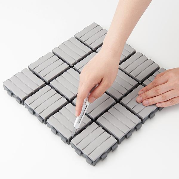 ライクイット ジョイントデッキタイル 6枚入り グレー like-it Joint Deck Tile