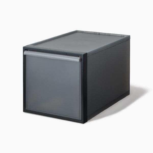 ライクイット クローゼットシステム 引出し(L) ブラック like-it CS-D3