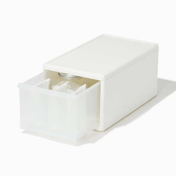 ライクイット 組み合わせて使える収納ケース ミディM ホワイト like-it MOS-02