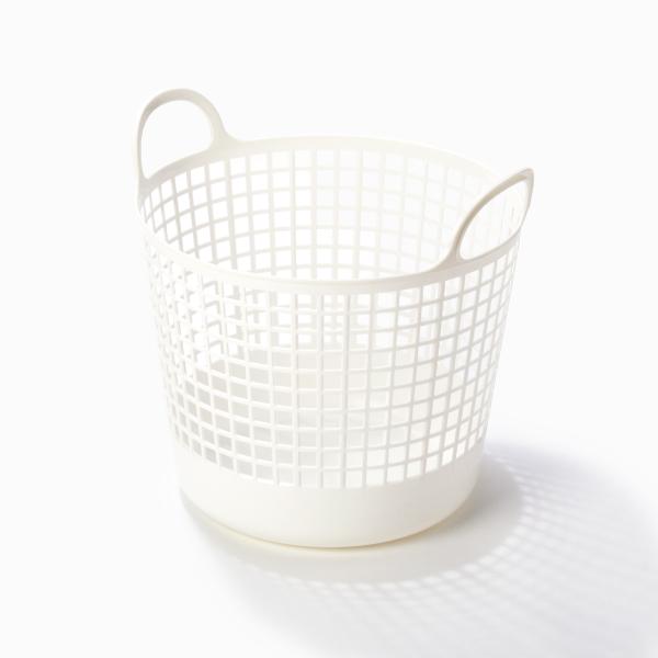 ライクイット ラウンドバスケット ホワイト like-it LBB-01C