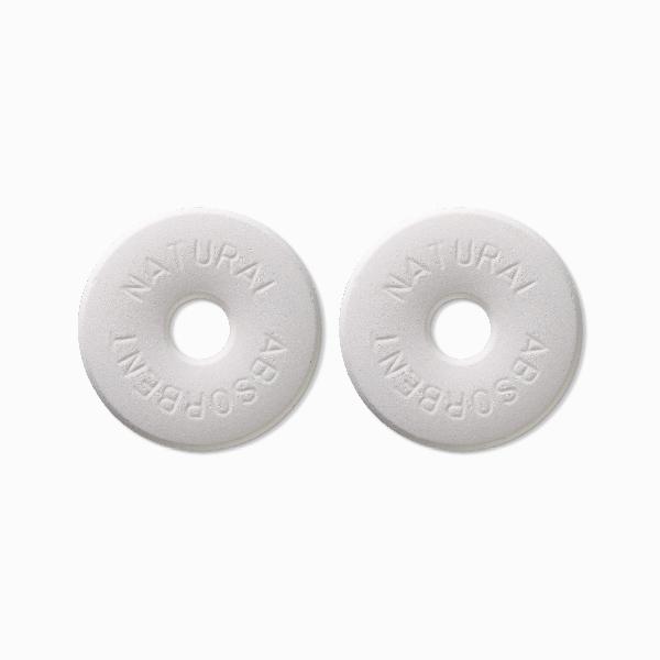 ライクイット Natural Absorbent40 調湿保存できる珪藻土リング2P ホワイト like-it KSD-11