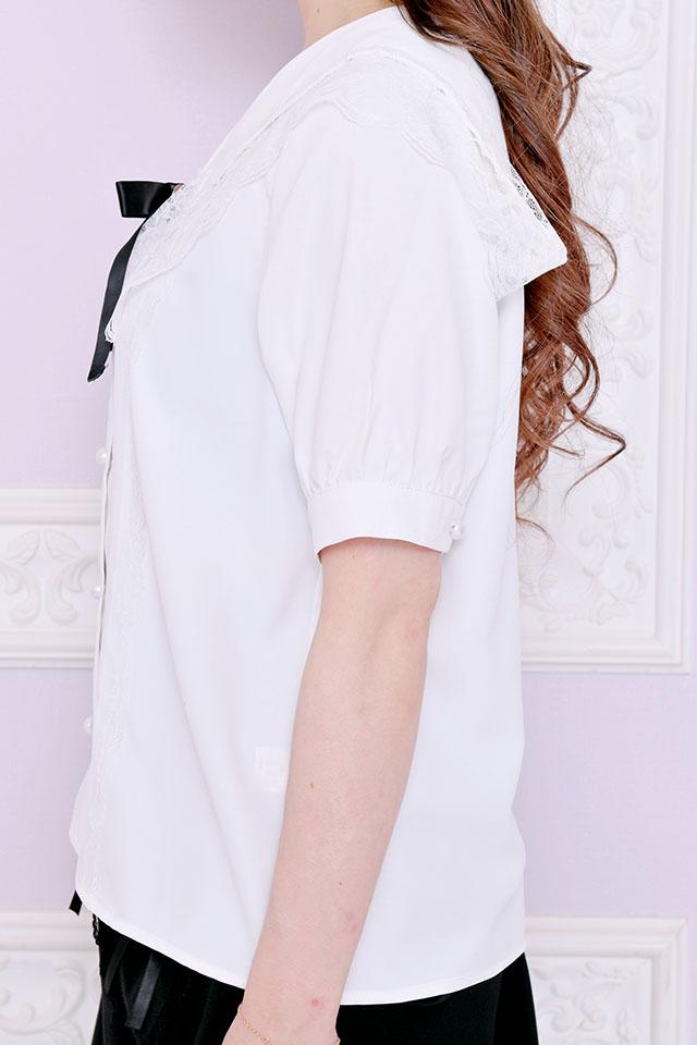 【MA*RS】クロスリボン付セーラーブラウス - ホワイト size-F