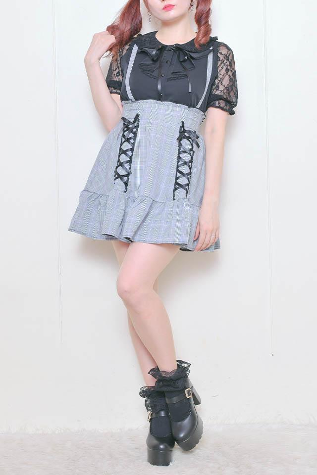 【MA*RS】スピンドルフレアスカート - BLK/ホワイト size-F